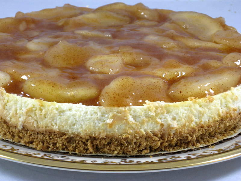Apple Pie Topped Cheesecake Recipe with Weight Watchers Points