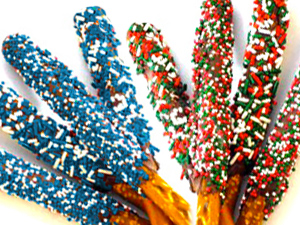 holiday chocolate pretzels photo