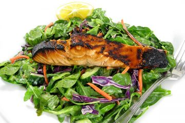 salmon-terryikai-spinch-salad