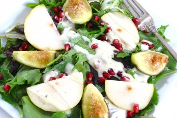 Autumn Fig, Pomegranite and Field Greens Salad- photoJPG