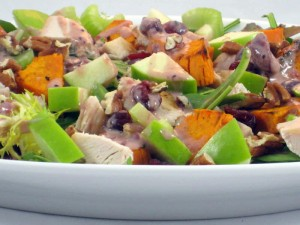 Turkey and Roasted Sweet Potato Salad - Skinny Kitchen