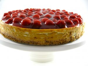 A Decadent Holiday Cherry Pie Topped Cheesecake Recipe with Weight Watchers Points