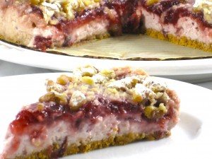 Low Fat Cranberry Cream Cheese Torte Recipe with Weight Watchers Points