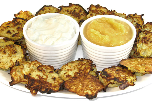 Skinny Mini Passover Potato Pancakes Appetizer with Weight ...