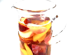 Sangria Blanca with Summertime Stone Fruits with Weight ...