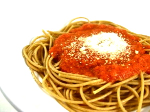 Spaghetii-with-fresh-roasted-tomato-sauce- photo 1