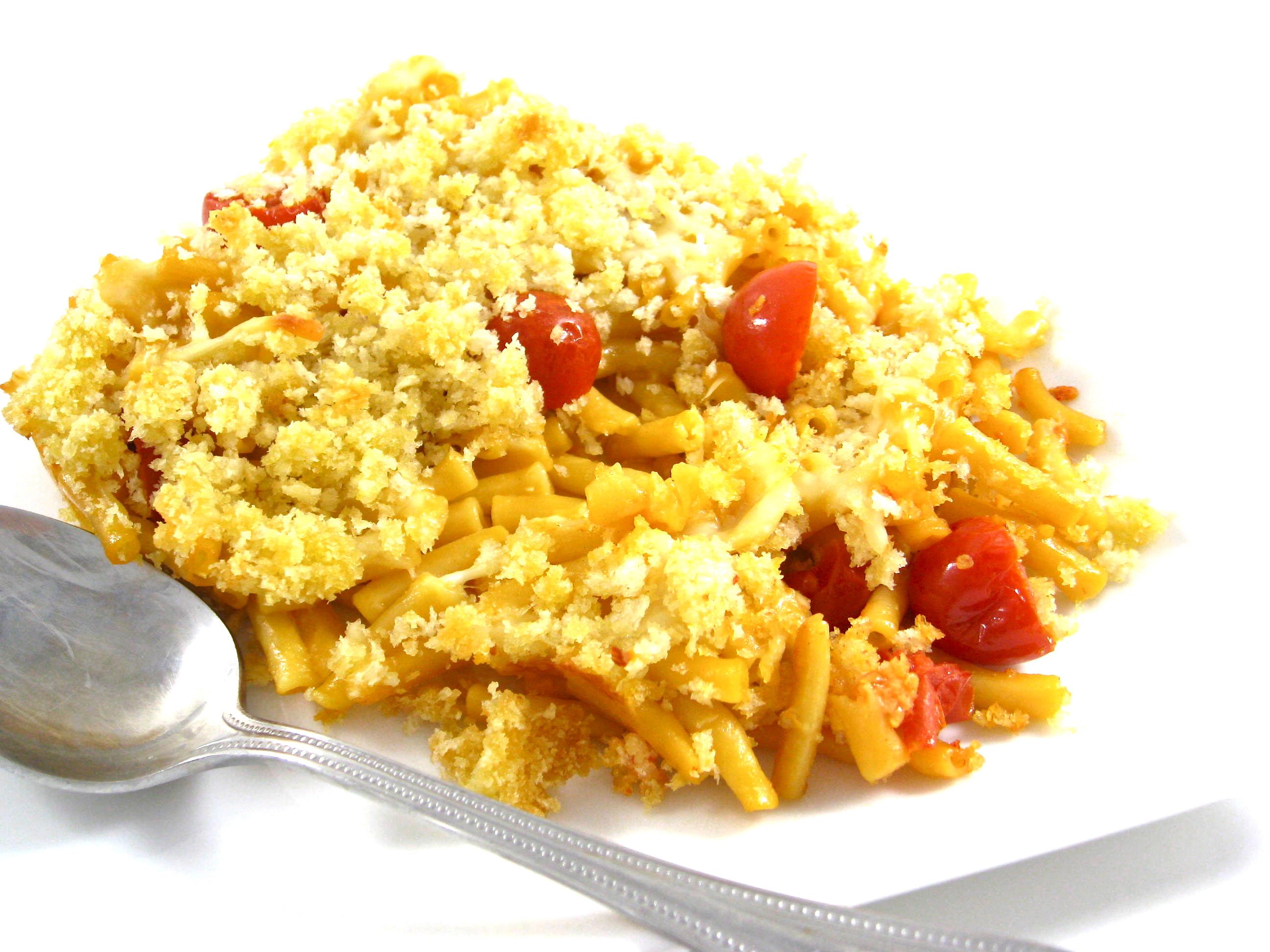 Three-Cheese Macaroni And Cheese Recipe — Dishmaps