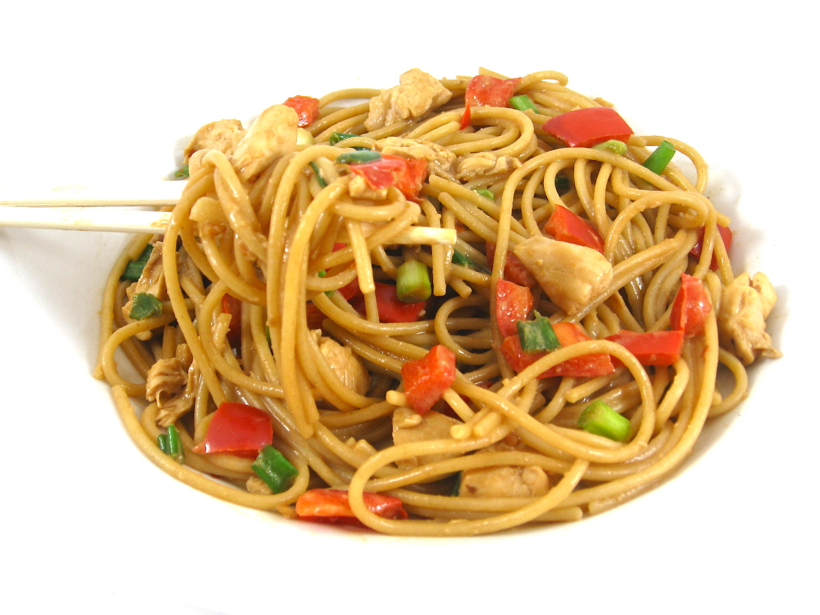 Skinny Thai Chicken and Peanut Noodles with Weight Watchers Points ...