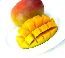 sliced mango photo 1