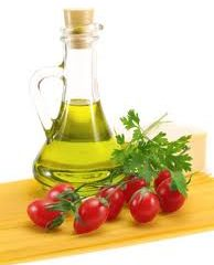tomatoes and oilve oil photo
