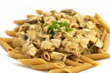 stroganoff over pasta