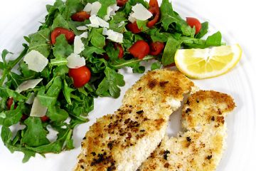 turkey-milanaise-and-argula-salad