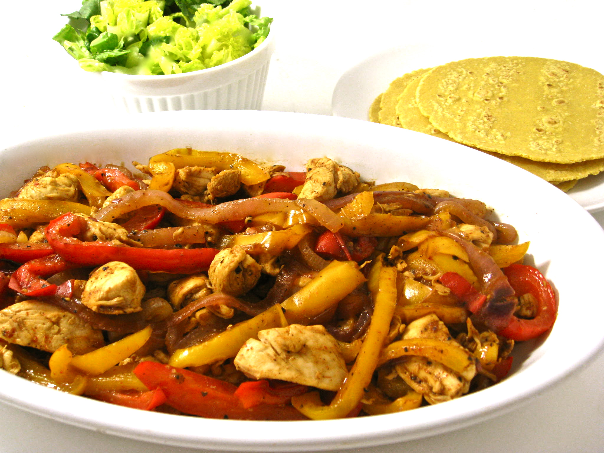 Mexican Chicken Fajitas I love fajitas, especially