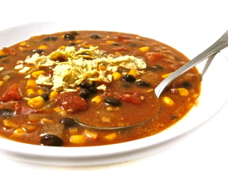 vegetarian tortilla soup 1