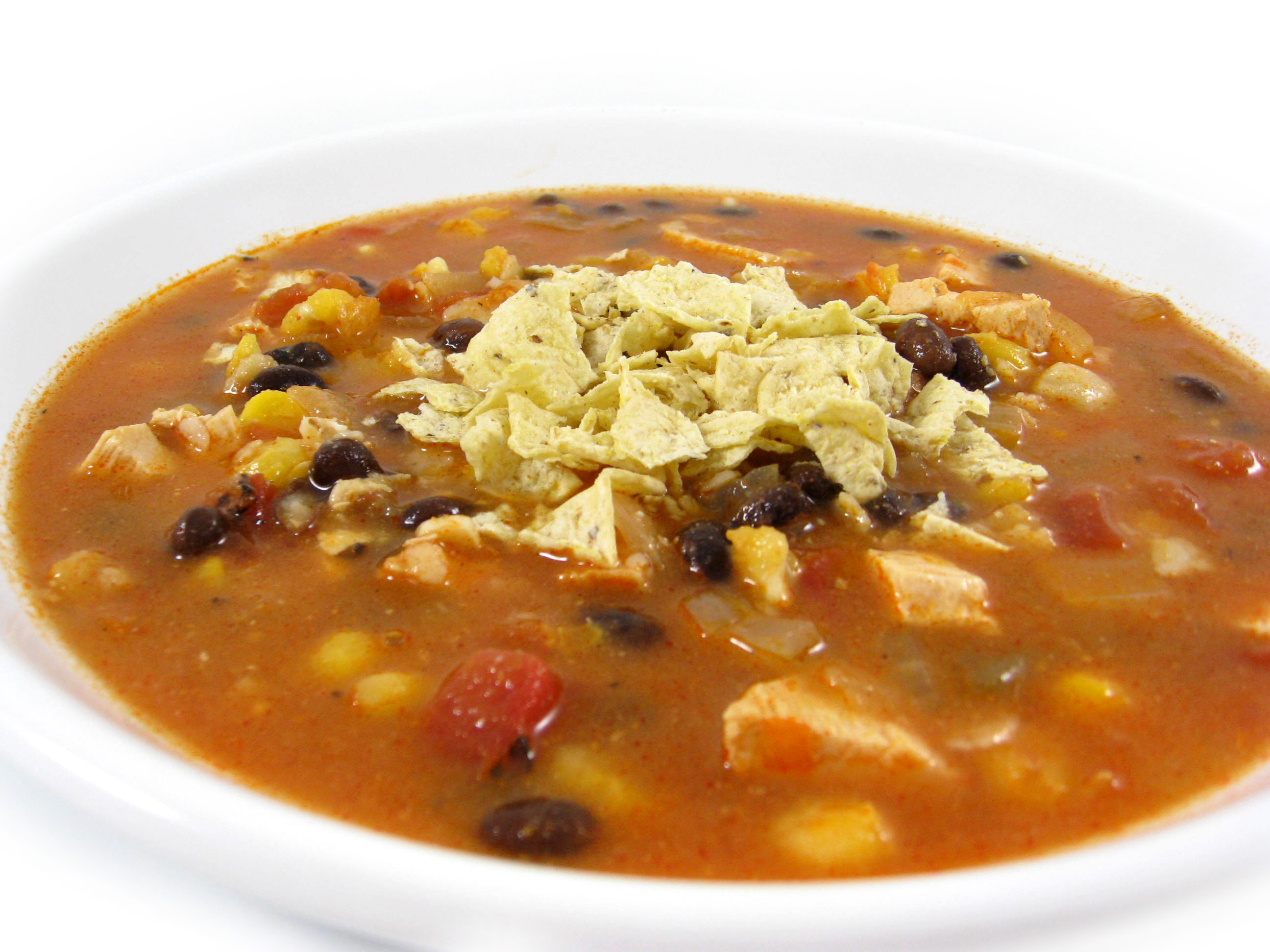Heavenly Chicken Tortilla Soup with Weight Watchers Points | Skinny ...