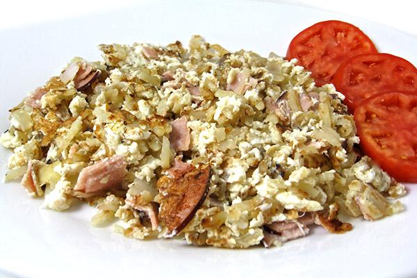 ham and eggwhite scarmble