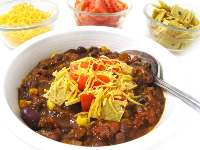 Skinny Taco Chili Crock Pot Or Stove Top With Weight