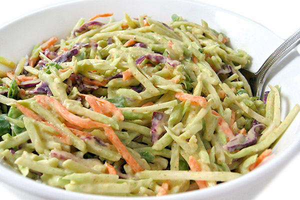 Super Low Calorie Honey Mustard Broccoli Slaw with Weight Watchers ...