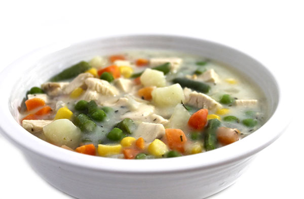 Skinnylightful Chicken Pot Pie Soup with Weight Watchers ...