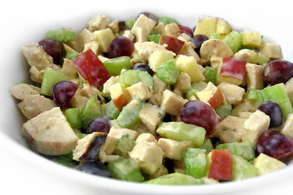 Skinny Waldorf Chicken Salad with Weight Watchers Points | Skinny ...
