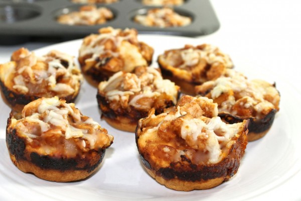 BBQ chicken pizza bites