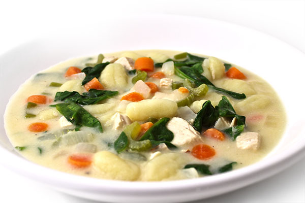 Olive Garden Chicken Gnocchi Soup Made Skinny With Weight Watchers Points Skinny Kitchen
