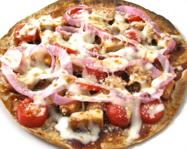 bbq chicken tortilla pizza 5