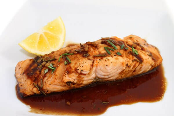 Amazing Balsamic Glazed Salmon with Weight Watchers Points | Skinny ...