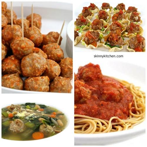 4 skinny meatball recipes