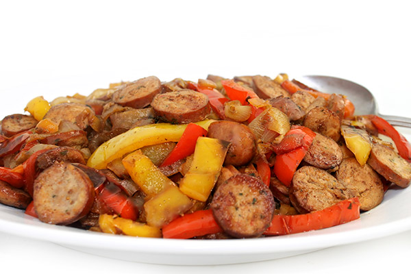 Sausages, Peppers and Onions Made Deliciously Skinny with Weight ...