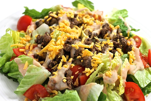 Skinny Cheeseburger Salad with Weight Watchers Points ...