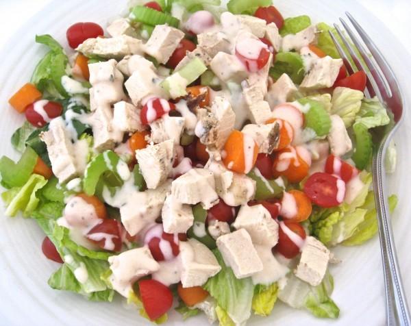 Low Calorie Buffalo Ranch Chicken Salad 1