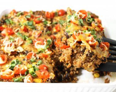 Quinoa enchilada casserole 2