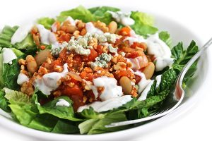 buffalo turkey chili-salad-1