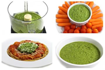 Spinach Pesto Collage