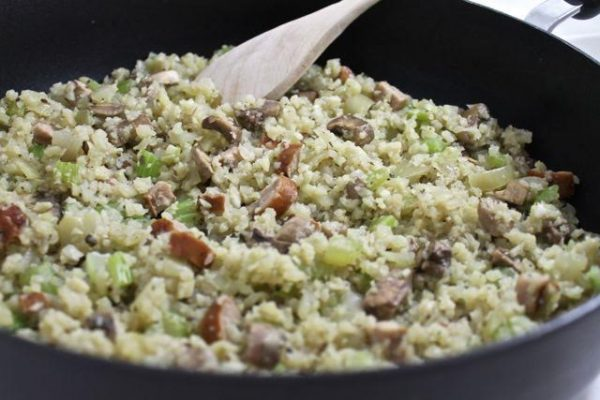 cauliflower-rice-and-sausage-stuffing